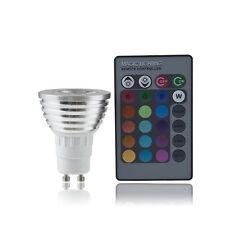 GU10 4W RGB LED Light Bulb Color Change Lamp with Remote Control 100-240V FE