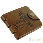 New Fashion Men's Leather ID Credit Card Coin Holder Billfold Wallet Money Clip