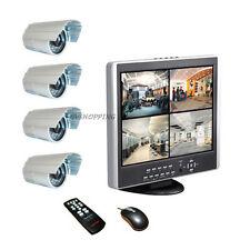 VIDEOSORVEGLIANZA COMPLETA DI MONITOR DVR INTEGRATO 500GB + 4 TELECAMERE CAVI