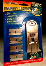 SAFETY SCRAPER - 5 Blades - Scrape Paint & Wallpaper, Open Cartons, Splice Wire