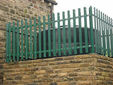 "Steel Palisade Fencing 48"" tall 2.75 mt bays,Bolt Down Posts, Unused,£68 per bay"