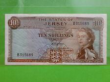 Jersey 10 Shillings 1963 QEII (EF-XF)