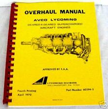 LYCOMING ENGINES GEARED-SUPERCHARGED OVERHAUL MANUAL -11