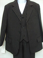Boys 3 Piece Black Suit For Wedding/ Pageboy/ Party, Size: 2 Years (STB03)