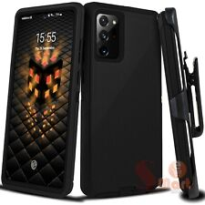 For Samsung Galaxy Note 20 Rugged Case Cover w/ Belt Clip Fits Otterbox Defender
