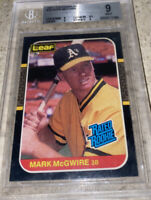 1987 LEAF Donruss MARK MCGWIRE #46 BGS 9.0 Mint Rated RC Rookie Card Rare