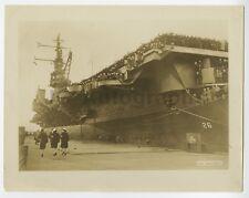USS Monterey - WWII Era Mid 20th Century Original Silver Gelatin Vintage Photo