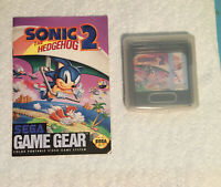 Sonic the Hedgehog 2 (Sega Game Gear 1992) with Manual