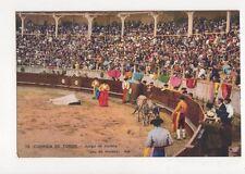 Corrida de Toros Juego de Muleta Spain Vintage Postcard 461a