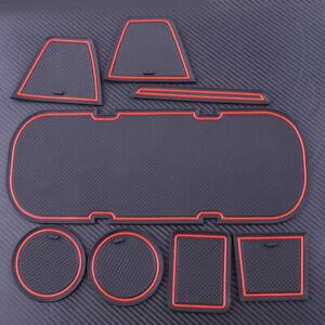 8 Door Gate Slot Pad Panel Cup Holder Mat Fit For Toyota 86 Subaru BRZ 2012-2019