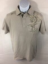 Fox Racing Casual Polo Short Sleeve Shirt Sz S - Dragon - Tattered Worn Look