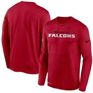 Atlanta Falcons Nike Youth Boys Sideline Impact Legend DRI-FIT Long Sleeve Shirt