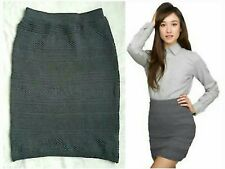 AMERICAN APPAREL CURVE HUGGING FITTED STRECH-KNIT BODYCON PENCIL SKIRT NWT M