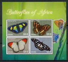 Ghana 2017 MNH Butterflies of Africa 4v M/S Butterfly Insects Stamps