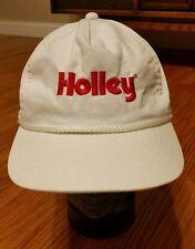 Rare Vintage 1980s Holley Carburetors Drag Racing Rope Hat Cap Snapback Trucker