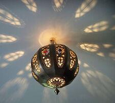 Lustre plafonnier marocain fer forgé lampe applique 3 lanterne orient suspension