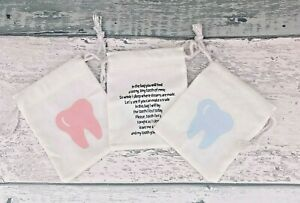Tooth Fairy Coin Bag, Tooth Fairy Keepsake, Under Pillow Tooth Pouch For Kids