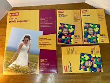 "Staples Photo Supreme Paper, 8 1/2"" x 11"" 50/Pack & 3 Photo Plus 4x6 60/Packs"