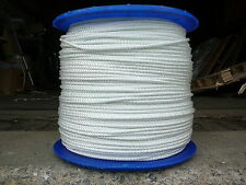 "5/16"" x 100' US-Mil Spec White Twisted Nylon Rope  anchor, dock, horse, tie down"