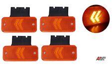 Four 24V Amber Side Marker 12 LED Indicator Lights Lamps Trailers Trucks Lorries