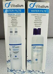 NEW! TWO Vitalium Water Filters - VF370 Compatible - Whirlpool, Kenmore