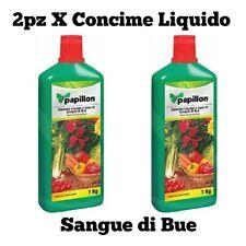 CONCIME LIQUIDO SANGUE DI BUE 1lt + 1lt per piante da fiore e frutta PAPILLON