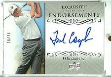 2013 UD Exquisite FRED COUPLES 16/75 On Card AUTO Endorsements Autograph EE-FC