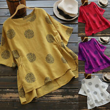 Plus Size Womens Loose Short Sleeve Kaftan Baggy Blouse T Shirt Top Ladies Tunic