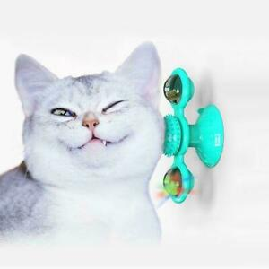 Cat Turning Windmill Turntable Tickle Cat Toy Turntable Cat Funny Toy Hair R3Y2