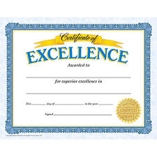 Certificate of Excellence by Trend Back to school Teachers