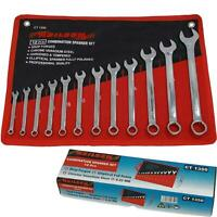 Neilsen 12pc Fully Polished Metric Combination Spanner Wrench Set 6mm - 22mm