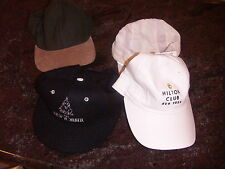 FOUR HATS CAPS ALL OF THEM ALL NEW 2 WHITE 1 GREEN BROWN AND ONE BLACK