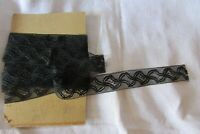 Beautiful Length Antique French Black Swirl Lace 16ft 9""