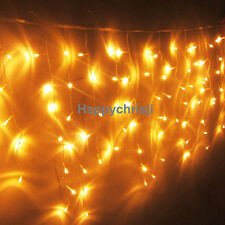 US Ship 3M 100 LED Party Christmas Wedding LED Icicle Lights Warm White Blue Red
