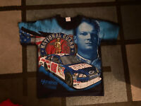 Vintage Dale Earnhardt Jr NASCAR Graphic Shirt M National Guard Chase Authentics