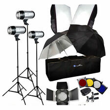 Photography 900W Strobe Studio Flash Light Kit Lighting Set  (3 x 300W)