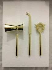 GOLD COCKTAIL BAR TOOLS SET OF 3