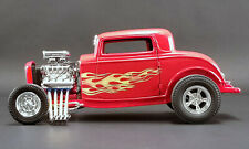 1932 VINTAGE FORD 3 WINDOW RED FLAMETHROWER BLOWN HEMI ACME 1:18 GMP DIECAST