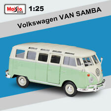 Maisto 1:25 VW Car Green Volkswagen VAN SAMBA Bus Diecast New in Box Collection