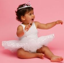 SALE SECONDS QUALITY FRILLY LILY WHITE  BABY FAIRY TUTU BALLET WAS £26 NOW £6