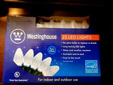 Westinghouse 25 LED Indoor / Outdoor Christmas String Lights - Pure White