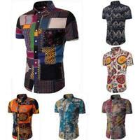 Dress shirt slim fit short sleeve stylish casual men's summer t-shirt luxury
