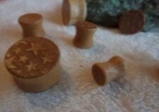 Piercing-Ringe aus Holz für