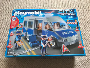 Playmobil City Action Police Van with Lights and Sound. 9236. Boxed & Complete.