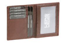 Ausweis- und Kreditkartenhülle LEAS in Echt-Leder, dunkelbraun