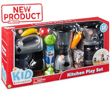 18 Piece Kids Kitchen Toy Set Pretend Child Play Food Mixer Coffee Maker Blender