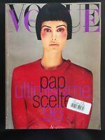 VINTAGE VOGUE ITALIA SEPT. 1996, WEBER, HELMUT NEWTON, GUCCI, VERSACE, 600+PGS