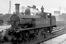 Larger LMS Railway Negative: ex-LNWR 2-4-2T 6630 at Nuneaton 22/01/1939    5/415