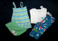 Children's place Girls 3T Mixed clothing lot of 4 Brand New Top capri shorts NWT