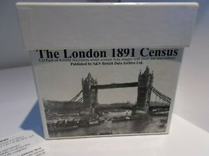 The London 1891 Census  Box Set  CDs with instructions